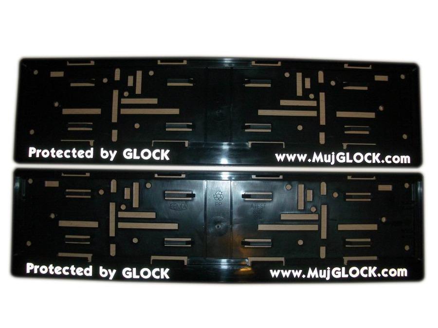 Promotion article - MujGLOCK registration plate frame - MujGLOCK.com