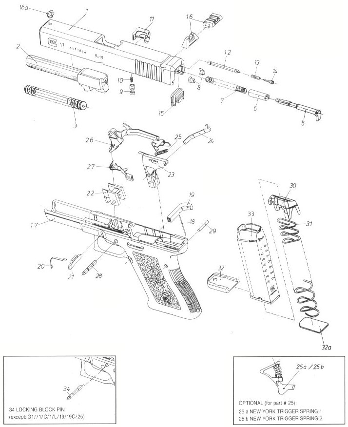 Glock 17 Slide Drawings